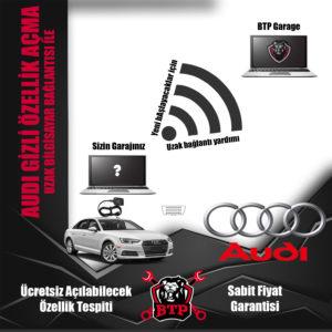 Uzak bağlantı ile Audi gizli özellik açma