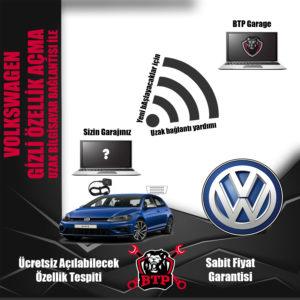 Uzak bağlantı ile Volkswagen Gizli Özellik Açma
